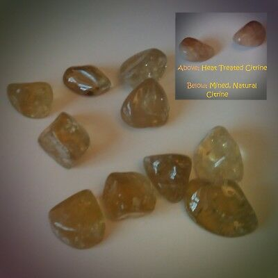 1 X Genuine Natural  Mined Not Heated  True Citrine Tumble Stone 20mm+ • 3.39£