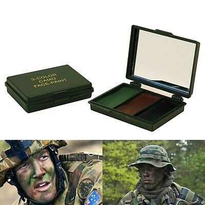 Camo Cream Face Paint Camouflage Army Military Combat Field Mirror Black Green • 5.90£