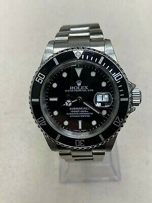 $ CDN10683.72 • Buy Rolex Submariner Date 16610 Black Dial Stainless Steel