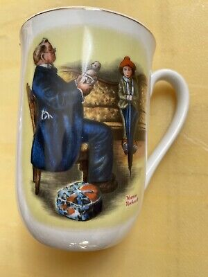 $ CDN16.31 • Buy Vintage Norman Rockwell A Hopeless Case 1982 Cup/mug Made In Japen Original Tag