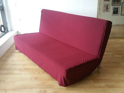 COVER SLIPCOVER FOR IKEA BEDDINGE SOFA BED 200x140cm - WINE RED  • 89£