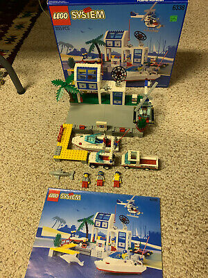 £194.84 • Buy 1995 Lego System Town Hurricane Harbour #6338 Complete W/Box-Manual & Minifigs