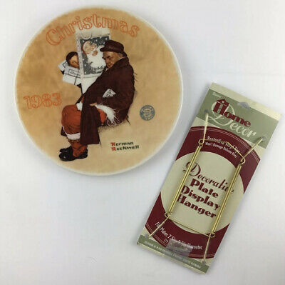 $ CDN24.99 • Buy Norman Rockwell 1983 Santa In The Subway Christmas Plate W Bonus Wall Hanger
