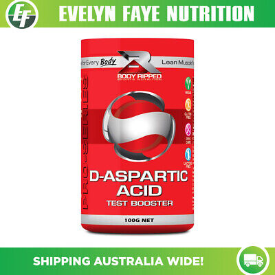 AU37.95 • Buy BODY RIPPED D-Aspartic Acid - 100g / 300g | Test Booster