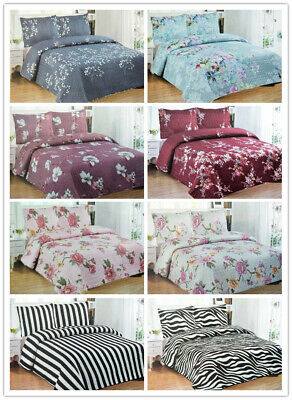 AU49.99 • Buy Luxury Poly-Cotton 3pcs Quilted Single/Double/Queen Coverlet Bedspread Comforter