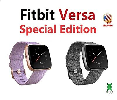 $ CDN147.37 • Buy Fitbit Versa Special Edition Fitness Watch Lavender Rose Gold Charcoal Woven