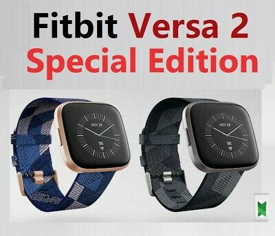 $ CDN223.42 • Buy Fitbit Versa 2 Special Edition Fitness Smartwatch Woven Pink Copper Rose Grey