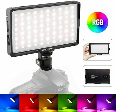 Moman RGB Video Camera Light 2500K-8500K For Camcorder Photography Videography • 39.90£