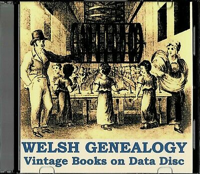 Welsh Genealogy - Vintage Books On Data Disc • 9.99£