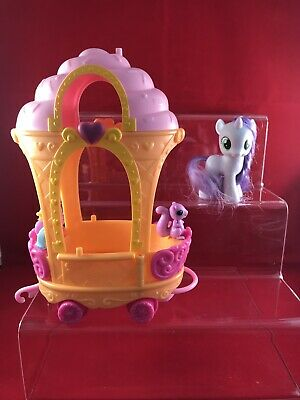 My Little Pony G4 Sweetie Belle & Ice Cream Train Car With Accessories • 14.99£