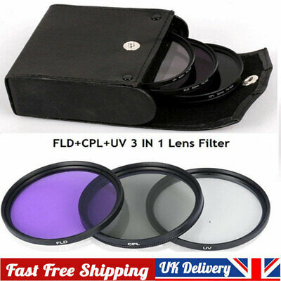 UV+CPL+FLD Lens Filter Set With Bag For Cannon Nikon Sony Pentax Camera Lens • 6.45£