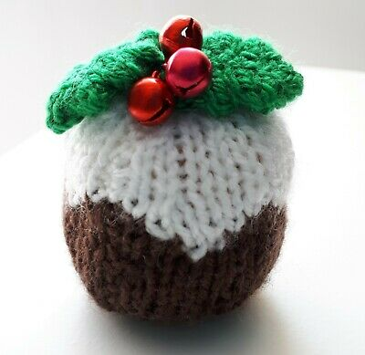 Hand Knitted Christmas Pudding Tree Ornament  • 4.50£