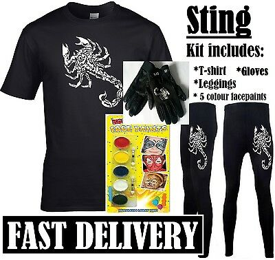 AU51.68 • Buy Sting Fancy Dress 90s Retro Sports Wrestler Wrestling Costume Kit