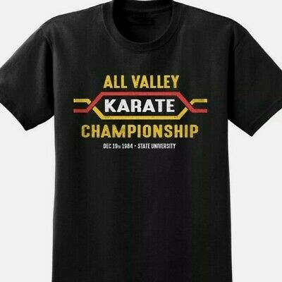 $13.60 • Buy All Valley Karate Kid T-shirt Classic Retro 80s Film Movie Black Tee Gift UK USA