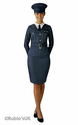 Women's WRAF Girl Ladies Fancy Dress RAF Pilot Uniform WW2 1940s Adults Costume • 19.99£