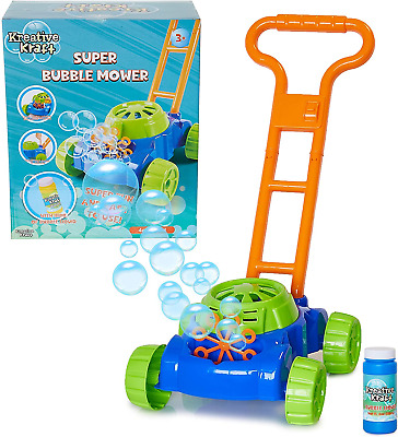 KreativeKraft Lawn Bubble Mower Push Along Toy Lawnmower For Kids And Toddlers | • 16.99£
