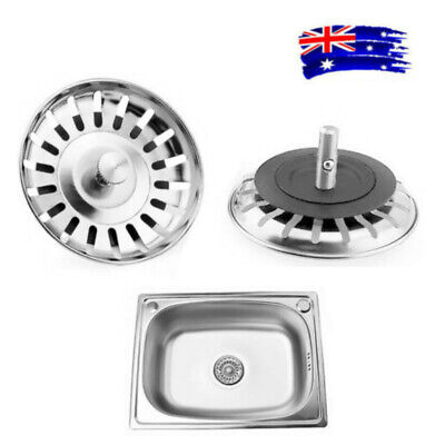 AU8.99 • Buy 1PC 82mm Stainless Steel Kitchen Sink Strainer Waste Plug Filter Stopper Cover