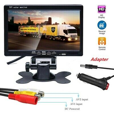 AU44.99 • Buy 7 Inch TFT LCD Color Car Rear View Headrest Monitor For Car Reversing Camera