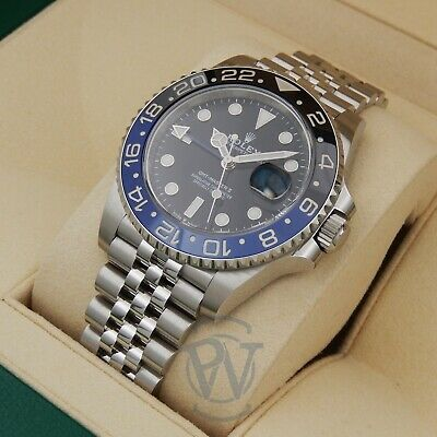 $ CDN22200.37 • Buy Rolex GMT-Master II Batman 126710BLNR Black Blue Bezel On Jubilee Complete 2020