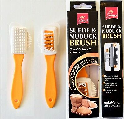 £3.49 • Buy 2 Side Suede Leather Nubuck Shoes Boots Cleaner Stain Household Cleaning Brush