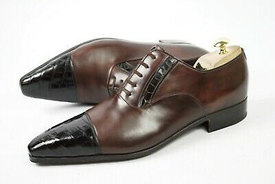 $ CDN701.56 • Buy Artioli Handmade In Italy G1/2 UK8.5 /42.5 / Us9.5 Shoes Loafer Oxford Crocodile