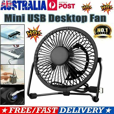 AU14.92 • Buy Mini USB Desk Fan Small Quiet Personal Cooler USB Powered Portable Table Fan AT