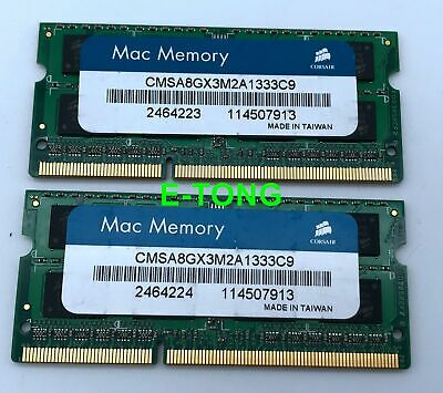$ CDN50.22 • Buy Mac Memory 8GB CORSAIR 2x4GB DDR3-1333 CMSA8GX3M2A1333C9 SODIMM Laptop RAM 204p