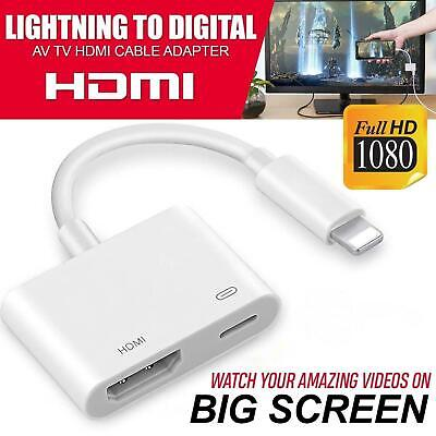 Lightning To HDMI Digital TV AV Adapter Cable For Apple IPad IPhone X 8 7 6 Plus • 6.99£
