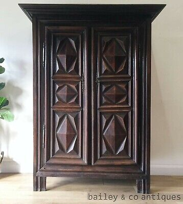 AU2275 • Buy Antique French Rare Armoire Solid Carved Walnut 18th Century Louis XIII - RF208
