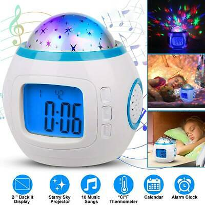 AU22.51 • Buy Kids Star Sky Projection Music LCD Digital Alarm Clock Calendar Multifunction AU