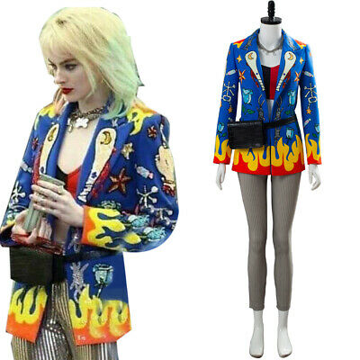 Birds Of Prey Harley Quinn Costume Cosplay Halloween Uniform Jacket Full Set • 55.99£