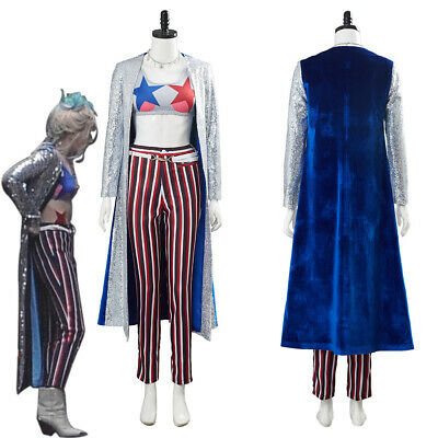 Birds Of Prey Harley Quinn Cosplay Costume Halloween Uniform Outfit Suit • 63.99£