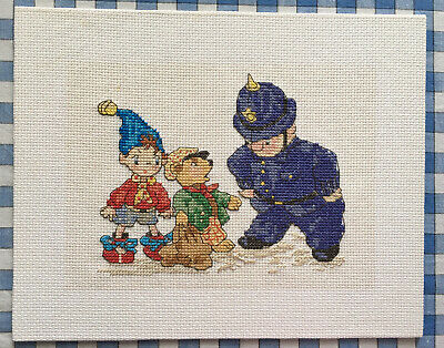 Noddy Mr.Plod Bear Cross Stitch Picture Completed Finished 20 X 25cm Nursery • 6.99£