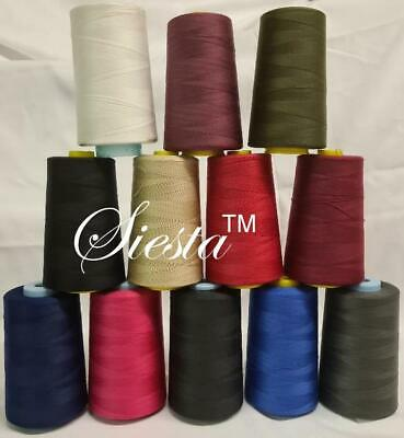 £8.99 • Buy TOP QUALITY SEWING THREAD 120s SPUN POLYESTER OVERLOCKING 5000 YARDS