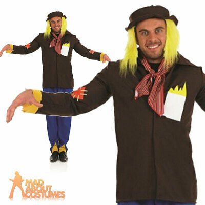 £16.99 • Buy Adult Mens Scarecrow Costume Wizard Of Oz Halloween Book Day Fancy Dress Outfit