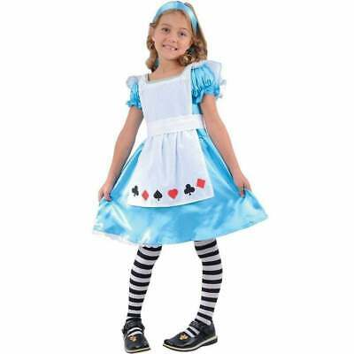 Girls Storybook Alice In Wonderland Fancy Dress Kids  Costume Ages 3-4 Years • 9.99£
