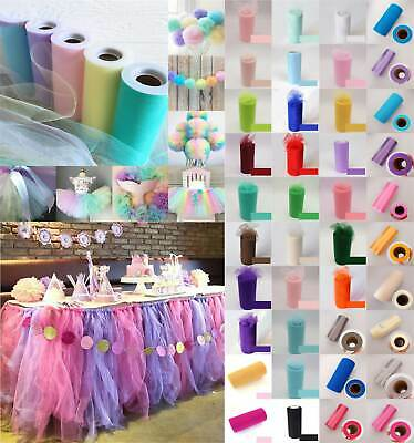 UK 6 X25YDS Tulle Spool Roll Wedding Bridal Party Favor Decoration Tutu Craft • 3.30£