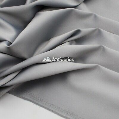 £18.15 • Buy Silver_  Armani Stretch Silky Satin Fabric Sold By The Yard_ Heavy Thick _