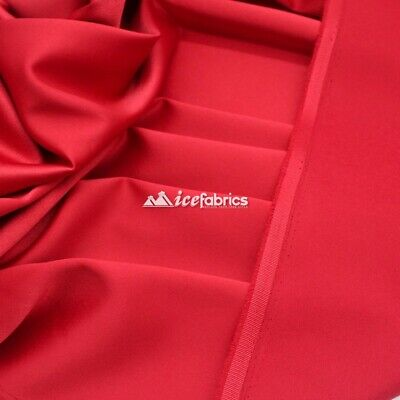 £18.15 • Buy Red_  Armani Stretch Silky Satin Fabric Sold By The Yard_ Heavy Thick _