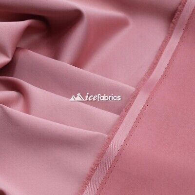 £13.79 • Buy Dusty Pink_  Armani Stretch Silky Satin Fabric Sold By The Yard_ Heavy Thick _