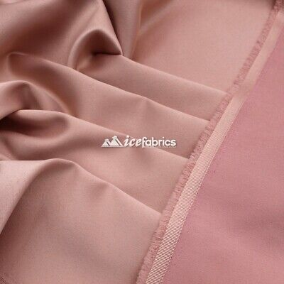 £13.79 • Buy Rose Gold_  Armani Stretch Silky Satin Fabric Sold By The Yard_ Heavy Thick _