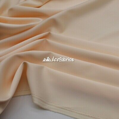 £13.79 • Buy Peach_  Armani Stretch Silky Satin Fabric Sold By The Yard_ Heavy Thick _
