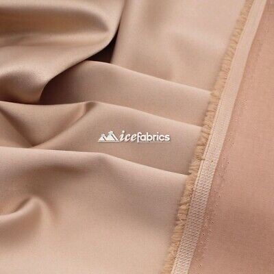 £13.07 • Buy Champagne_  Armani Stretch Silky Satin Fabric Sold By The Yard_ Heavy Thick _