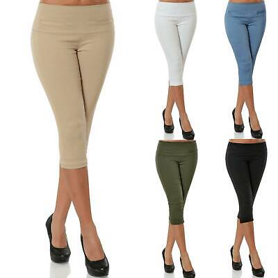 AU24.12 • Buy Women Casual Trousers Elasticate Cropped Leggings Gym Yoga Pants 3/4 Length