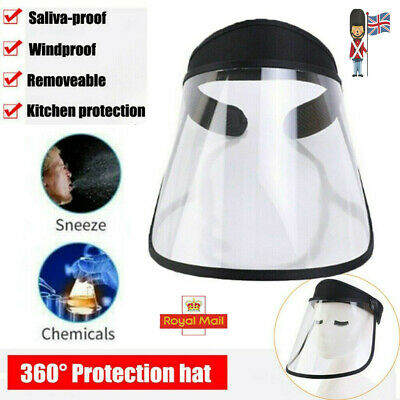 Face Shield Full Face Visor Protection Mask PPE Shield Clear Plastic Transparent • 6.89£