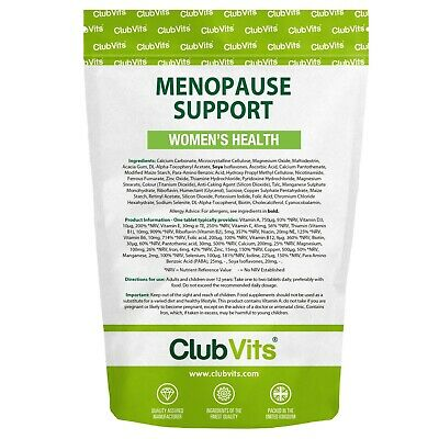 180 Menopause Support With Para Amino Benzoic Acid And Soya Isoflavones ClubVits • 0.99£