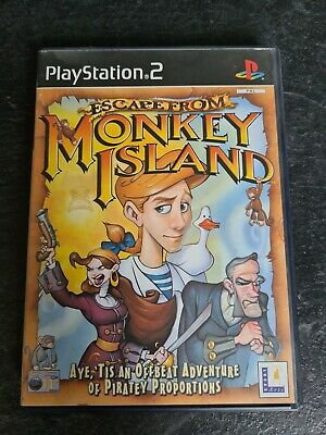 Escape From Monkey Island PS2 PlayStation 2 PAL Game LucasArts 2000 • 5£