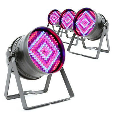 4x Beamz PAR 64 Can Disco Colour LED Party DJ Lighting Wall Lights Uplighters • 209£