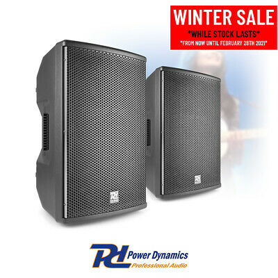 Pair Of 10  PA System Speakers For Mobile DJ Disco Live Band Stage 400w RMS • 215£
