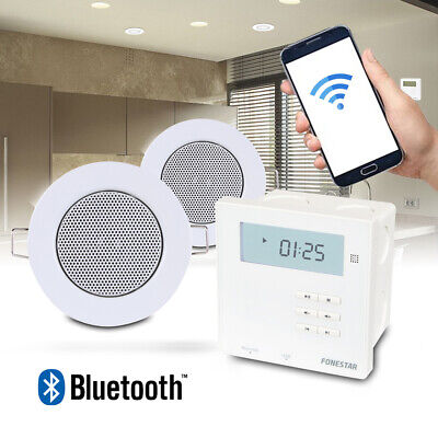 Bluetooth Ceiling Speakers & Wall Amplifier Home Audio Installation Music System • 135£